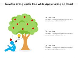 Newton Sitting Under Tree While Apple Falling On Head