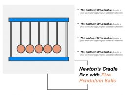 Newtons Cradle Box With Five Pendulum Balls