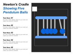 Newtons Cradle Showing Five Pendulum Balls