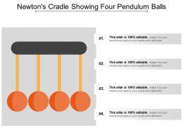 Newtons Cradle Showing Four Pendulum Balls