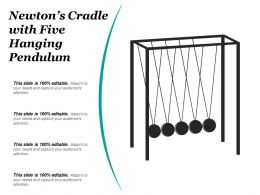 Newtons Cradle With Five Hanging Pendulum