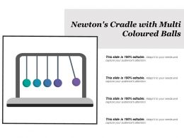 Newtons Cradle With Multi Coloured Balls