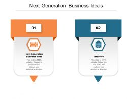 Next Generation Business Ideas Ppt Powerpoint Presentation Slides Rules Cpb