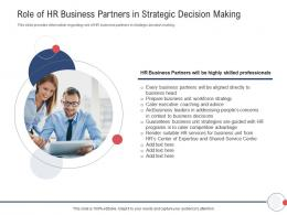 Next Generation HR Service Delivery Role Of HR Business Partners In Strategic Decision Making Ppt Tips