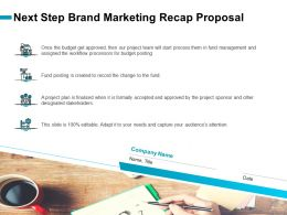 Next Step Brand Marketing Recap Proposal Ppt Gallery