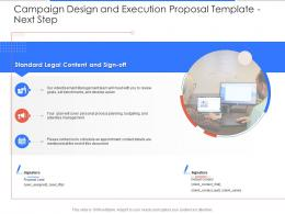 Next Step Campaign Design And Execution Proposal Template Ppt Powerpoint Presentation Portfolio