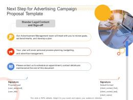 Next Step For Advertising Campaign Proposal Template Ppt Powerpoint Presentation Layouts Slides