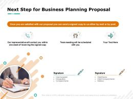 Next Step For Business Planning Proposal Team Ppt Powerpoint Presentation Summary Vector