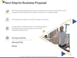 Next Step For Business Proposal Ppt Powerpoint Presentation Professional