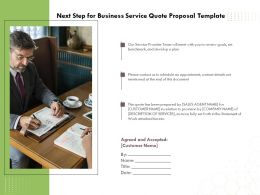 Next Step For Business Service Quote Proposal Template Ppt Powerpoint Icon