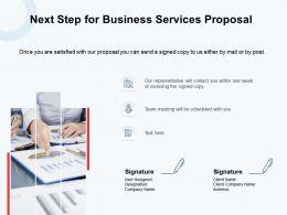 Next Step For Business Services Proposal Ppt Powerpoint Presentation Portfolio
