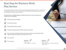 Next Step For Business Work Plan Service Ppt Powerpoint Presentation Brochure