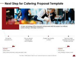 Next Step For Catering Proposal Template Ppt Powerpoint Presentation File Mockup