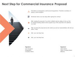Next Step For Commercial Insurance Proposal Ppt Powerpoint Presentation Ideas