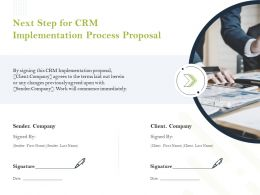 Next Step For CRM Implementation Process Proposal Ppt Powerpoint Infographics