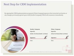 Next Step For CRM Implementation R129 Ppt File Example Introduction