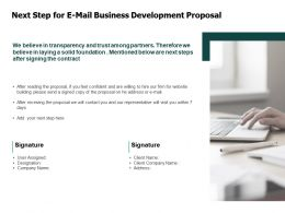 Next Step For E Mail Business Development Proposal Server Ppt Powerpoint Presentation Layouts Example File