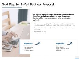 Next Step For E Mail Business Proposal Technology Ppt Powerpoint Presentation Skills
