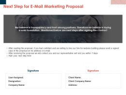 Next Step For E Mail Marketing Proposal Ppt Powerpoint Presentation Styles Styles