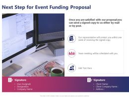 Next Step For Event Funding Proposal Ppt Powerpoint Presentation Professional