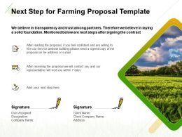 Next Step For Farming Proposal Template Ppt Powerpoint Presentation Guide