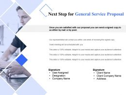 Next Step For General Service Proposal Ppt Powerpoint Presentation Infographic Template Graphics