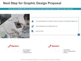 Next Step For Graphic Design Proposal Ppt Powerpoint Presentation Icon Skills