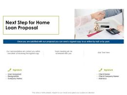 Next Step For Home Loan Proposal Ppt Powerpoint Presentation Portfolio Samples