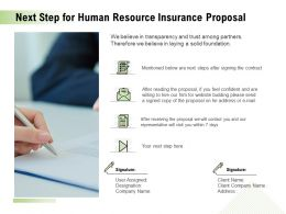 Next Step For Human Resource Insurance Proposal Ppt Powerpoint Show