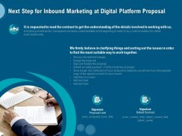 Next Step For Inbound Marketing At Digital Platform Proposal Ppt Infographics Guide