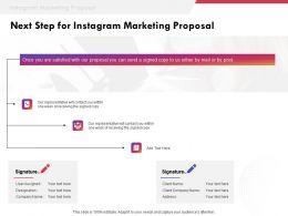 Next Step For Instagram Marketing Proposal Ppt Powerpoint Presentation Templates