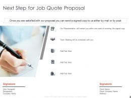 Next Step For Job Quote Proposal Team Ppt Powerpoint Presentation File Templates