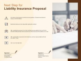Next Step For Liability Insurance Proposal Ppt Powerpoint Presentation File