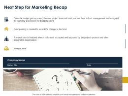 Next Step For Marketing Recap Ppt Powerpoint Presentation Slides Portrait