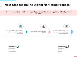 Next Step For Online Digital Marketing Proposal Ppt Powerpoint Presentation Summary Mockup