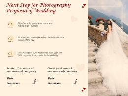 Next Step For Photography Proposal Of Wedding Ppt Powerpoint Presentation Example