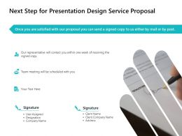 Next Step For Presentation Design Service Proposal Ppt Powerpoint