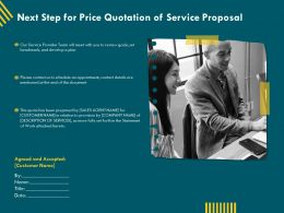 Next Step For Price Quotation Of Service Proposal Ppt File Elements