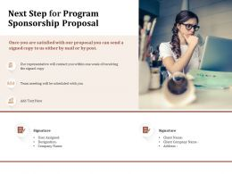 Next Step For Program Sponsorship Proposal Ppt Powerpoint Presentation Ideas Gallery
