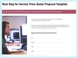 Next Step For Service Price Quote Proposal Template Ppt Gallery