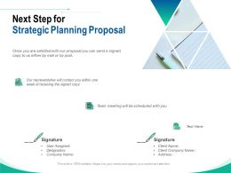 Next Step For Strategic Planning Proposal Ppt Powerpoint Presentation Graphics