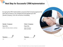 Next Step For Successful CRM Implementation Ppt Powerpoint Presentation
