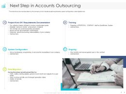 Next Step In Accounts Outsourcing Training Ppt Powerpoint Presentation Model Clipart