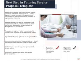 Next Step In Tutoring Service Proposal Template Ppt Powerpoint Portrait
