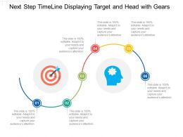 Next Step Timeline Displaying Target And Head With Gears