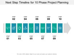 Next Step Timeline For 10 Phase Project Planning