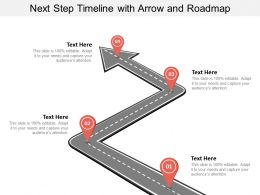 Next Step Timeline With Arrow And Roadmap
