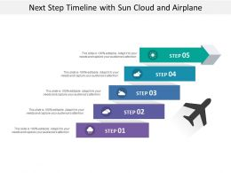 Next Step Timeline With Sun Cloud And Airplane