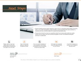 Next Steps A1268 Ppt Powerpoint Presentation Show Example