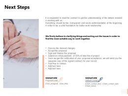 Next Steps Agenda Ppt Powerpoint Presentation Pictures Outline